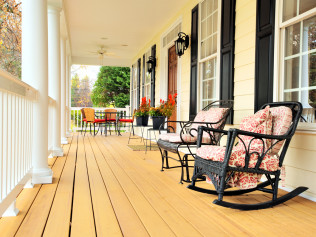 Decks and patios.